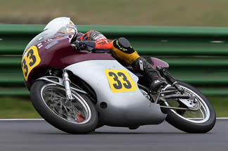 Olie linsdell first race meeting 2011 Mallory park Seeley Enfield