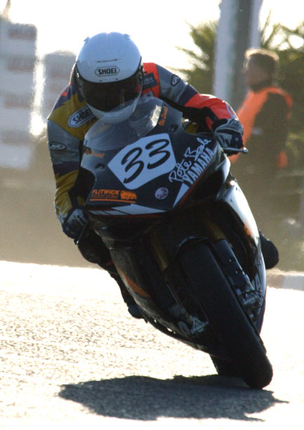 Olie linsdell riding the Pete Beale racing Yamaha Superbike, North West 200 2009