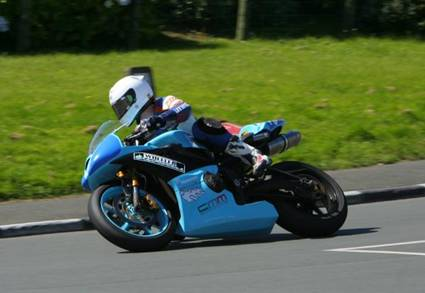 Olie Linsdell on the Wheeler Electrical Triumph 675, on route to the best newcomers award