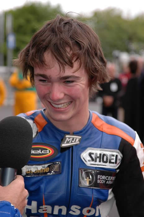 olie Linsdell post Isle of Man Manx gp newcomers win 2007