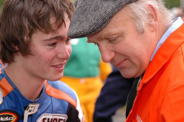 Olie and Steve Linsdell post race win Manx GP 2007